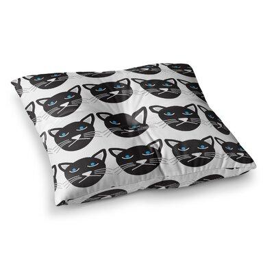 Vasare Nar Grumpy Cat Animals Square Floor Pillow Size: 23 x 23