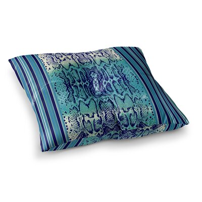 Nina May Snake Square Floor Pillow Size: 23 x 23