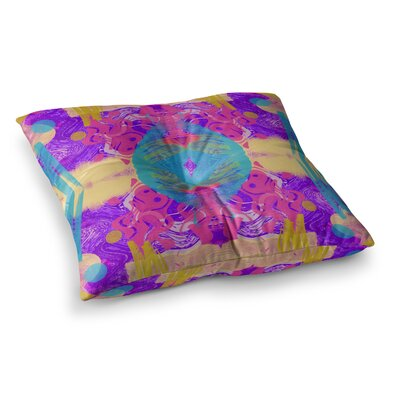Vasare Nar Glitch Kaleidoscope Square Floor Pillow Size: 26 x 26
