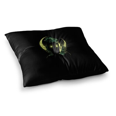 BarmalisiRTB Mystery Woman Digital Square Floor Pillow Size: 26 x 26