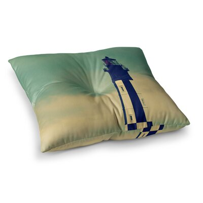 Robin Dickinson New Cape Henry Lighthouse Square Floor Pillow Size: 26 x 26