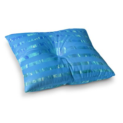 Rosie Brown Wet Wild Stripes Square Floor Pillow Size: 26 x 26