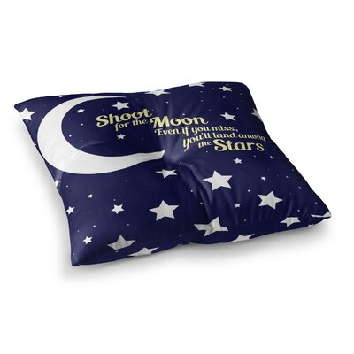 NL Designs Moon And Stars Quote Square Floor Pillow Size: 23 x 23