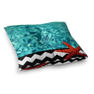 Oriana Cordero Turquoise Ocean Square Floor Pillow Size: 23 x 23