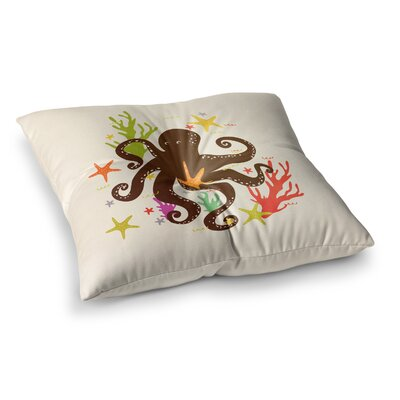 Strawberringo Friends Around the Sea Octopus Square Floor Pillow Size: 23 x 23