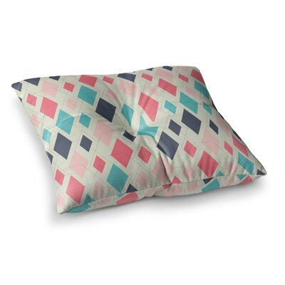 Neelam Kaur Modern Retro Digital Square Floor Pillow Size: 23 x 23