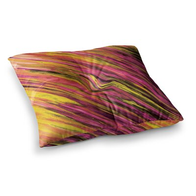 Theresa Giolzetti Square Floor Pillow Size: 26 x 26, Color: Orange