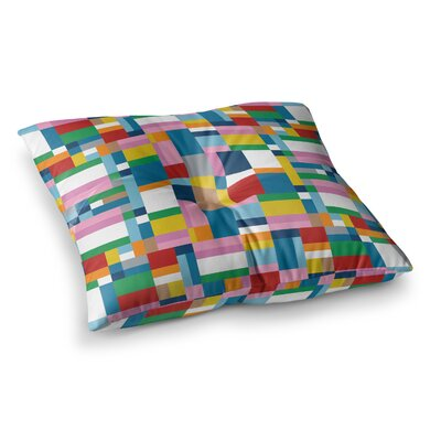 Project M Map Square Floor Pillow Size: 26 x 26