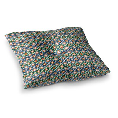 Nandita Singh Bright Squares Pattern Square Floor Pillow Size: 23 x 23