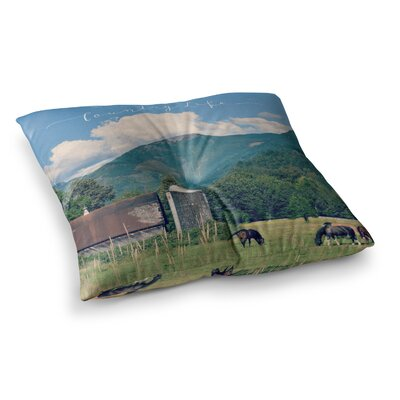 Robin Dickinson Country Life Square Floor Pillow Size: 26 x 26