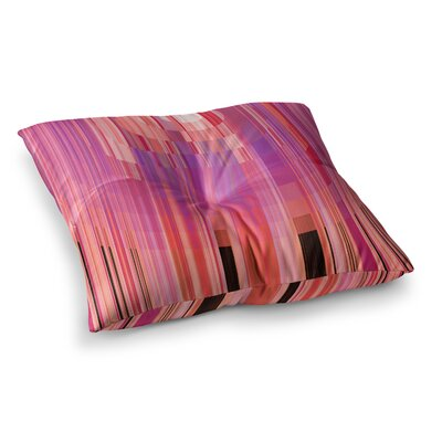 Nina May Mohave Sun Geometric Square Floor Pillow Size: 26 x 26, Color: Pink