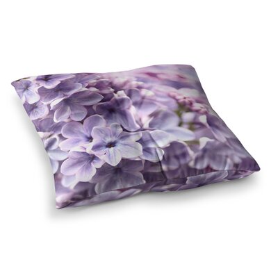 Sylvia Cook Lilac Flowers Square Floor Pillow Size: 23 x 23