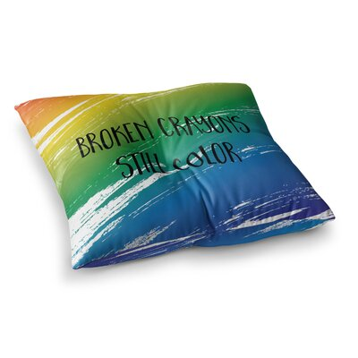 NL designs Broken Abstract Square Floor Pillow Size: 26 x 26