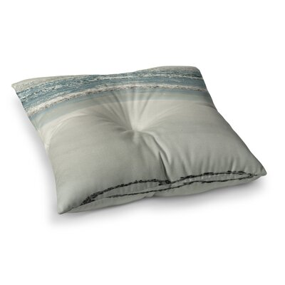 Robin Dickinson I Love the Beach Ocean Sand Square Floor Pillow Size: 26 x 26