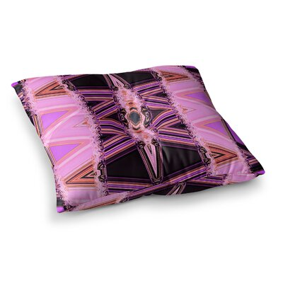 Nina May Decorama Square Floor Pillow Size: 23 x 23, Color: Pink/Black