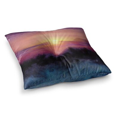 Viviana Gonzalez Calling the Sun IV Square Floor Pillow Size: 23 x 23