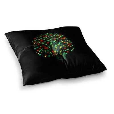 BarmalisiRTB Picking Stars Digital Square Floor Pillow Size: 26 x 26