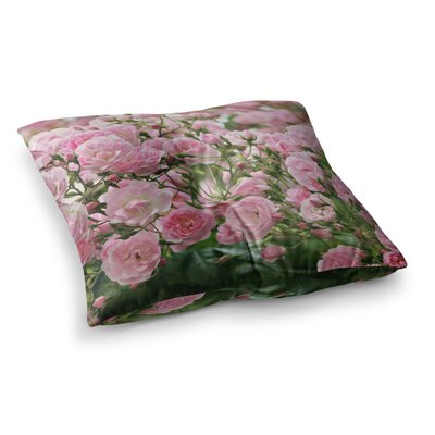 Sylvia Cook The Fairy Rose Floral Square Floor Pillow Size: 26 x 26