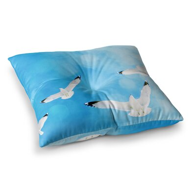 Robin Dickinson Fly Free Birds Sky Square Floor Pillow Size: 23 x 23