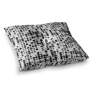 Nandita Singh Funny Polka Dots Abstract Square Floor Pillow Size: 26 x 26, Color: White