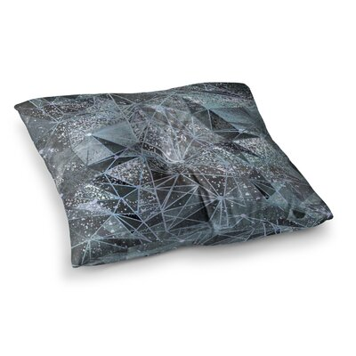 Marianna Tankelevich Ice Space Geometry Digital Square Floor Pillow Size: 23 x 23