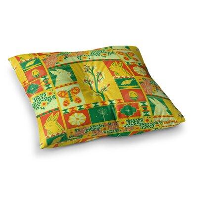 Tobe Fonseca Spring Seasonal Square Floor Pillow Size: 23 x 23