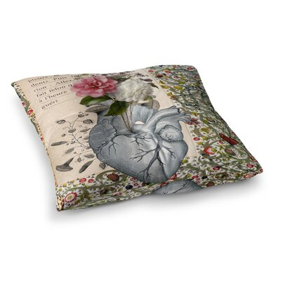 Suzanne Carter Her Heart is A Garden Square Floor Pillow Size: 23 x 23