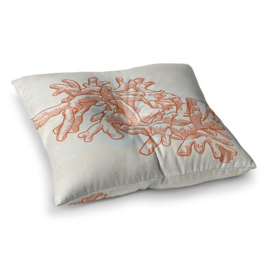 Sam Posnick Finger Coral Square Floor Pillow Size: 26 x 26