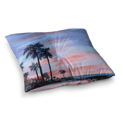 Rosie Brown Florida Sunset Square Floor Pillow Size: 26 x 26
