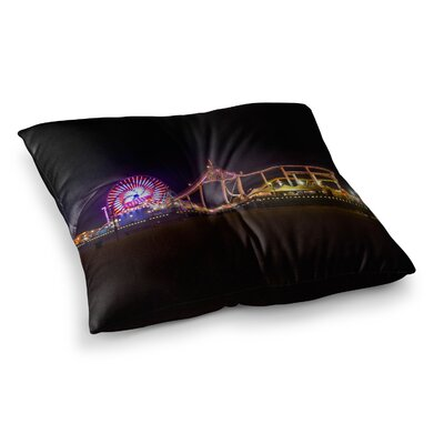 Juan Paolo Santa Monica Pier Square Floor Pillow Size: 26 x 26
