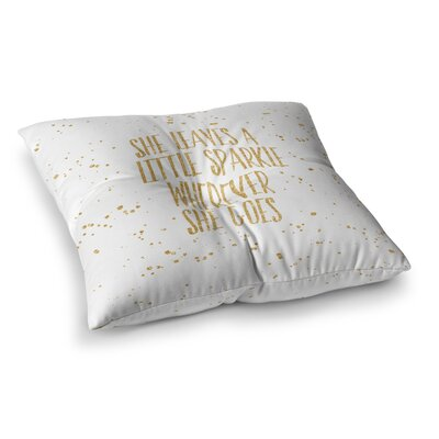 NL Designs Sparkle Digital Square Floor Pillow Size: 26 x 26