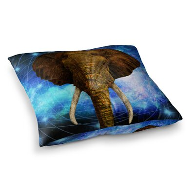 NL Designs Space Elephant Digital Square Floor Pillow Size: 26 x 26