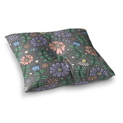 Sarah Oelerich Early Spring Pastel Floral Square Floor Pillow Size: 26 x 26