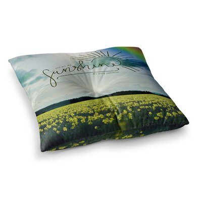 Robin Dickinson You Are My Sunshine Square Floor Pillow Size: 23 x 23