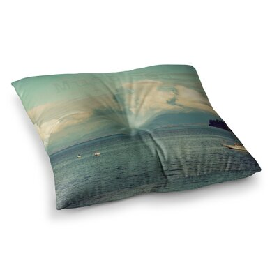 Robin Dickinson Must Sea Square Floor Pillow Size: 23 x 23