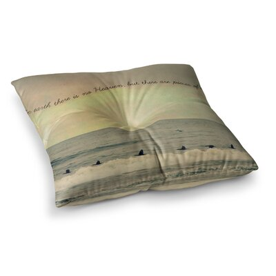 Robin Dickinson Pieces of Heaven Square Floor Pillow Size: 23 x 23