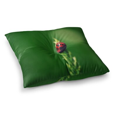 Robin Dickinson Ladybug Hugs Square Floor Pillow Size: 23 x 23