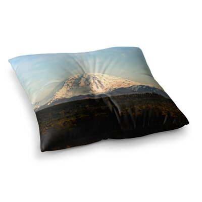 Sylvia Cook Mt. Rainier Mountain Photo Square Floor Pillow Size: 23 x 23