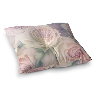 Suzanne Carter Faded Beauty Blush Floral Square Floor Pillow Size: 23 x 23
