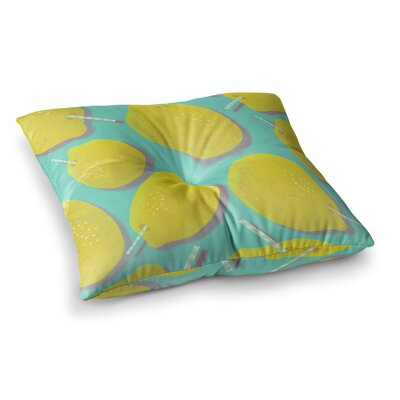 SusanaPaz Fresh Lemonade Digital Square Floor Pillow Size: 23 x 23