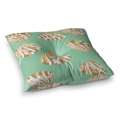 Rosie Brown Scallop Shells Square Floor Pillow Size: 23 x 23