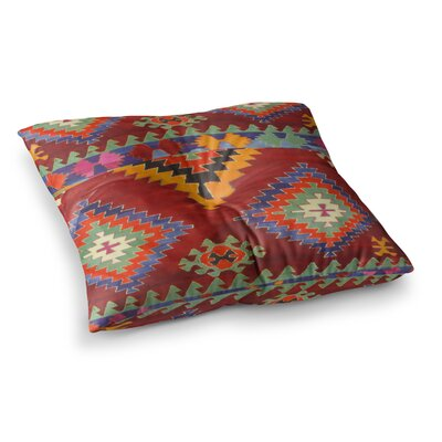 S Seema Z Tapestry Ethnic Pattern Square Floor Pillow Size: 26 x 26