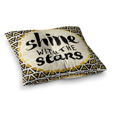 Pom Graphic Design Shine with the Stars Square Floor Pillow Size: 23 x 23
