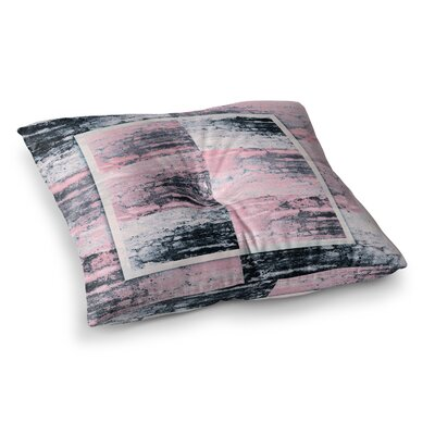 Nina May Tavertina Mixed Media Square Floor Pillow Size: 26 x 26, Color: Pink/Black