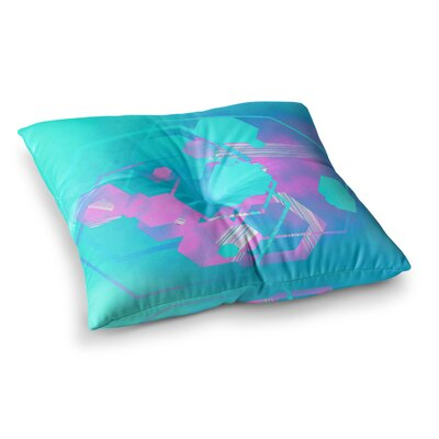 Infinite Spray Art Emersion Square Floor Pillow Size: 23 x 23