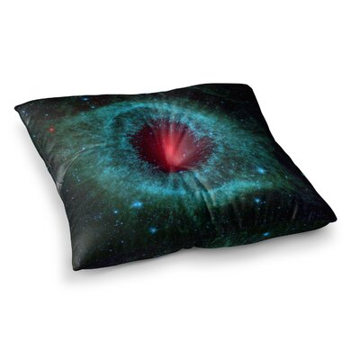 Suzanne Carter Helix Nebula Celestial Square Floor Pillow Size: 23 x 23