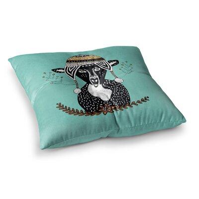 Pom Graphic Design Hipster Deer Animals Illustration Square Floor Pillow Size: 23 x 23