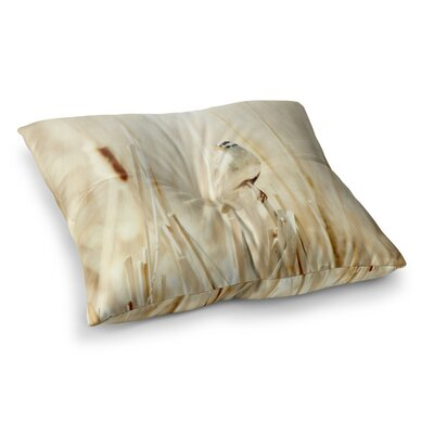 Sylvia Coomes Bird in Ethereal Light Square Floor Pillow Size: 23 x 23