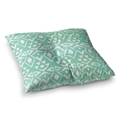 Pom Graphic Design Ancient Tribe Seafoam Square Floor Pillow Size: 26 x 26