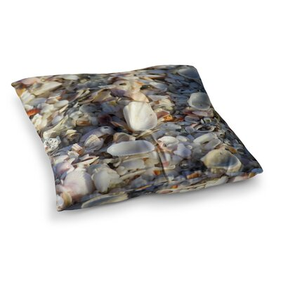 Philip Brown Seashells on the Beach Nature Square Floor Pillow Size: 23 x 23